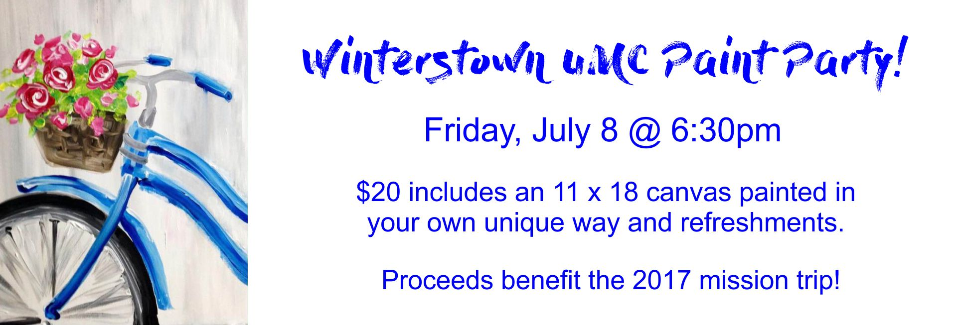 Winterstown UMC Paint Party!